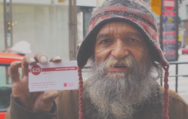 Hand Up Gift Card for the homeless