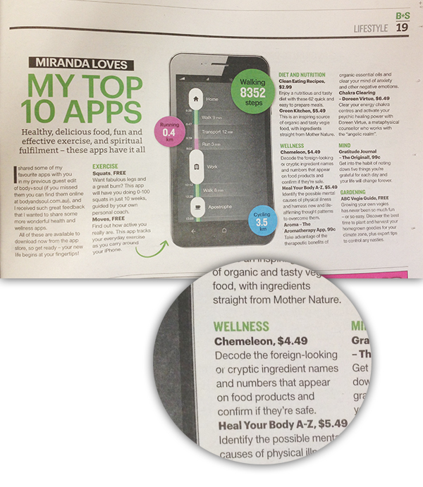 Body and Soul- Sunday Telegraph - Mirand Kerrs top 10 apps features chemeleon